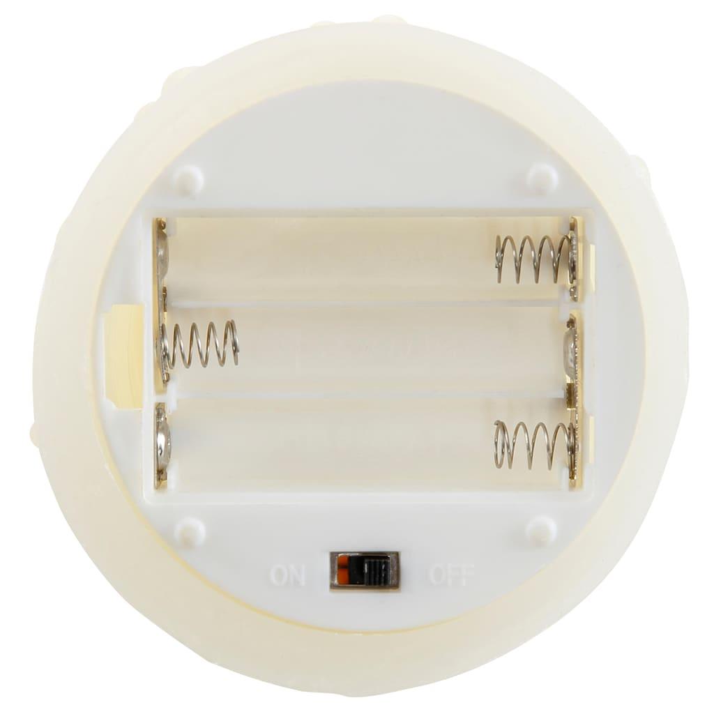 LED-Kerze, aus Echtwachs, mit beweglicher Flamme