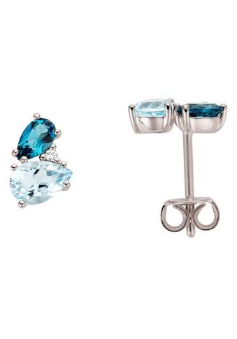 Firetti Paar Ohrstecker, mit Blautopas (behandelt), Blautopas London Blue (behandelt)... kaufen