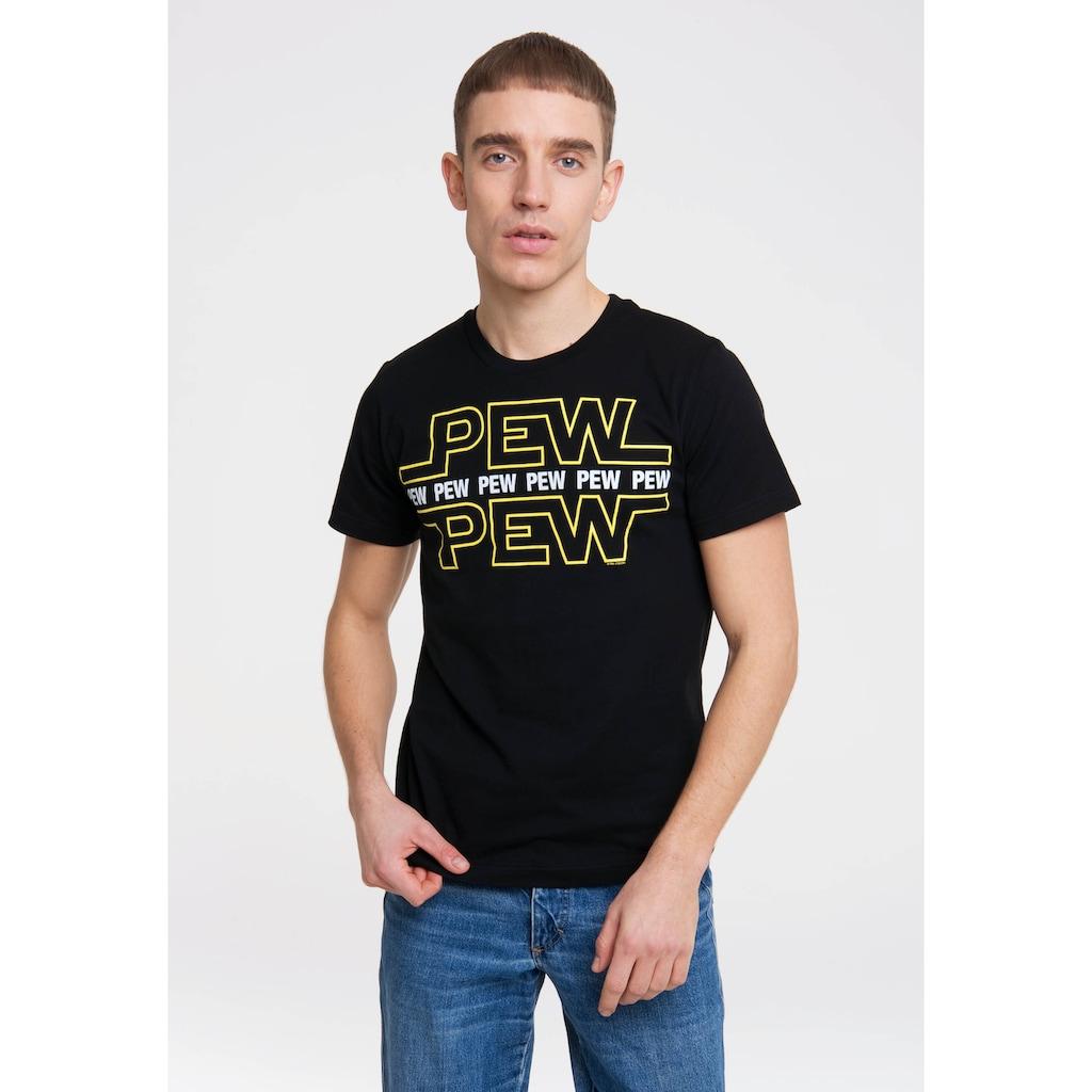 LOGOSHIRT Print-Shirt »Pew Pew«, mit lustigem Frontprintmotiv