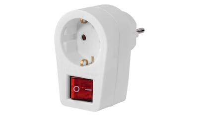 Hama Steckdosenadapter mit 2-poligen Schalter kaufen