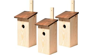 DOBAR Set: Nistkasten 3 - teilig, BxTxH: 17x17x40 cm kaufen