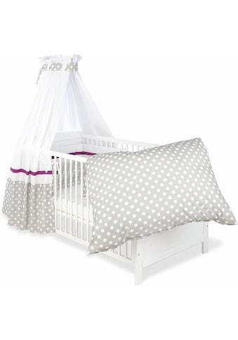 Himmelbettgarnitur »Punkte, grau«, Pinolino®, passend für Kinderbetten kaufen