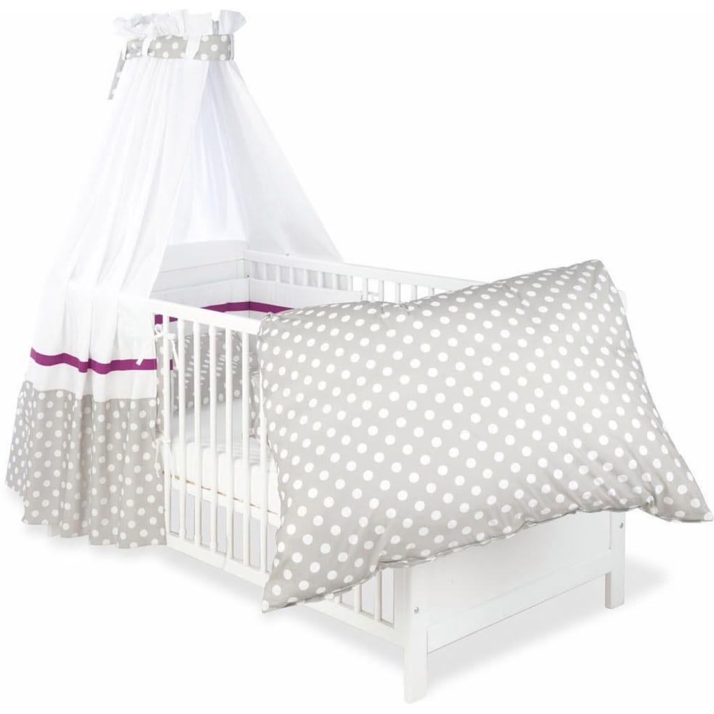 Himmelbettgarnitur »Punkte, grau«, Pinolino®, passend für Kinderbetten