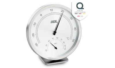 ADE Innenwetterstation »WS1813«, analoges Thermo-Hygrometer, Edelstahl mit... kaufen