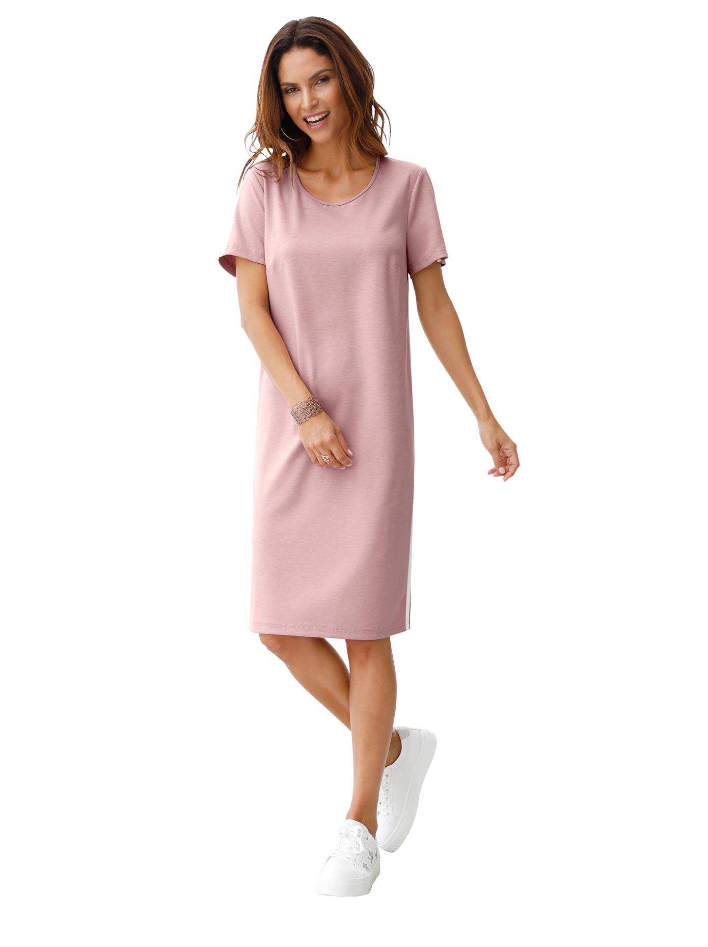 Classic Inspirationen Jersey-Kleid in gerader Schnittführung | Bekleidung > Kleider | Rosa | Jersey | Classic Inspirationen