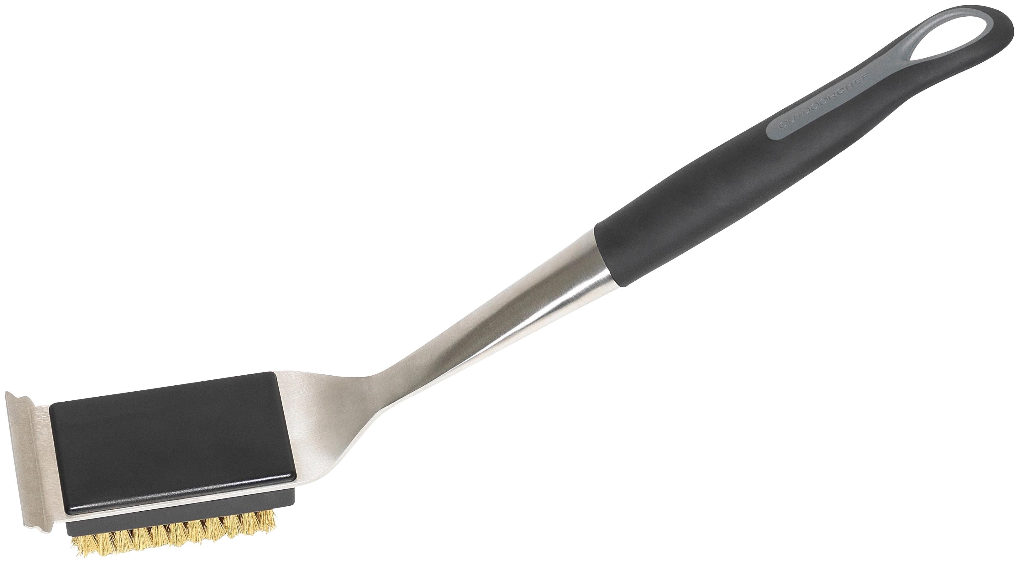 OUTDOORCHEF Grillbürste, BxL: 7,5x43 cm schwarz Zubehör für Grills Garten Balkon Grillbürste