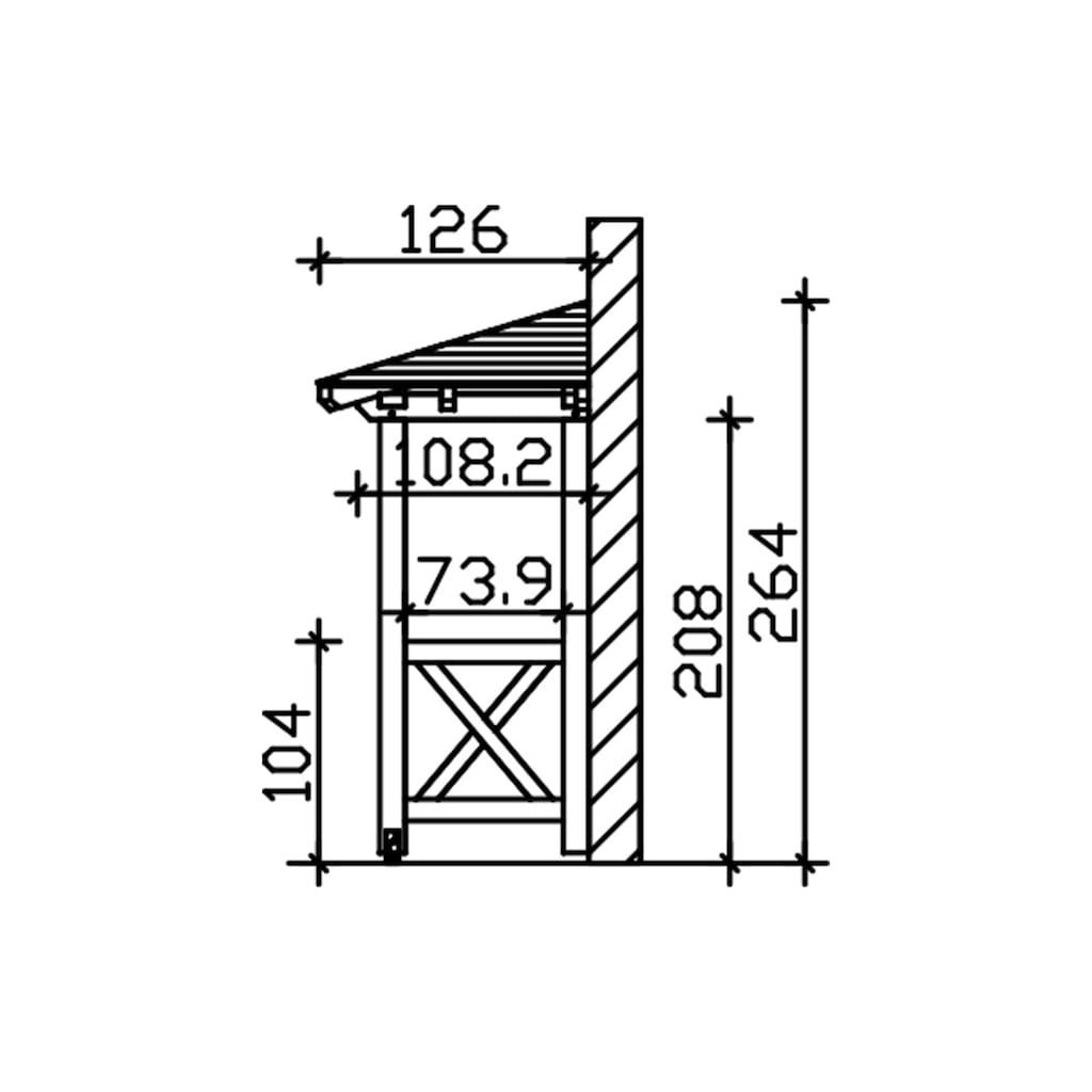 Skanholz Vordach »Wismar 4«, BxTxH: 258x126x264 cm