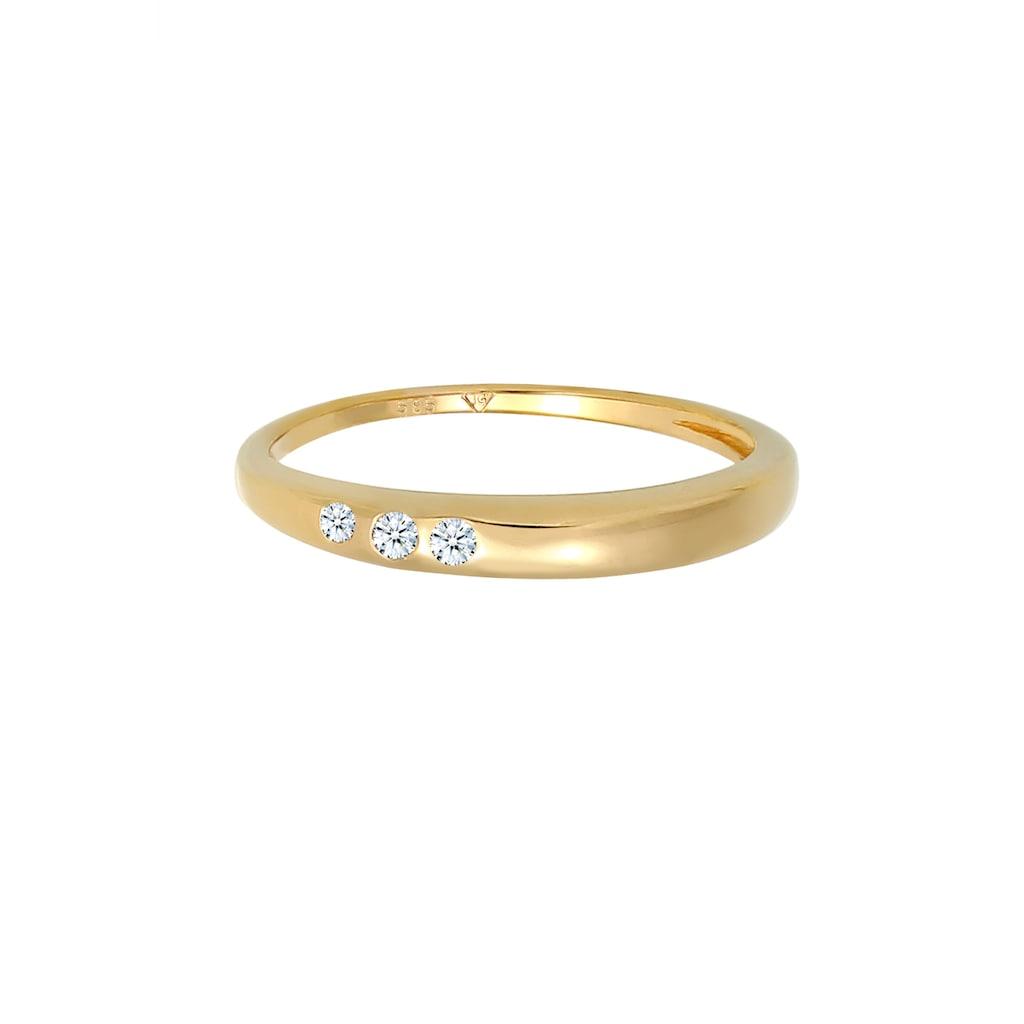 Diamore Diamantring »Verlobung Trio Diamant (0.06 ct.) 585 Gelbgold«