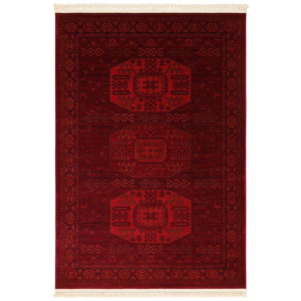 DELAVITA Teppich »Raika«, rechteckig, 10 mm Höhe, Mit Fransen, Wohnzimmer