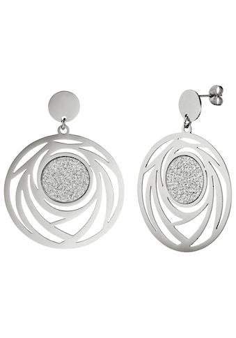 JOBO Paar Ohrhänger, rund Edelstahl kaufen