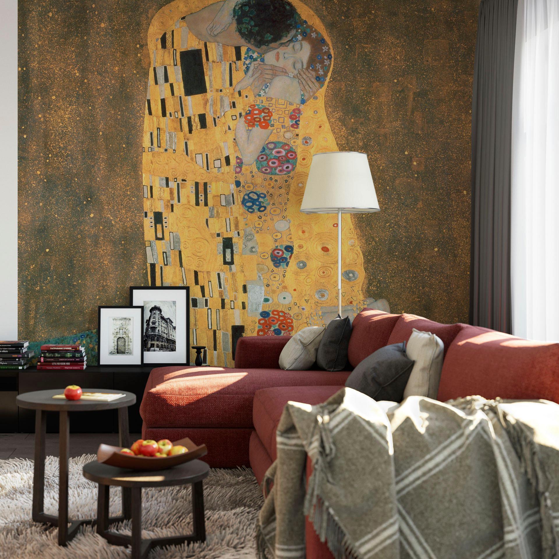 Fototapete Klimt - Der Kuss 240/260 cm Wohnen/Wohntextilien/Tapeten/Fototapeten/Fototapeten Natur