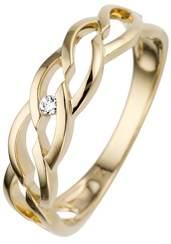 JOBO Fingerring, 585 Gold mit Diamant kaufen