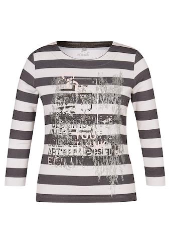 Rabe Rundhalsshirt, mit Schimmer-Effekt und Ringelmuster kaufen