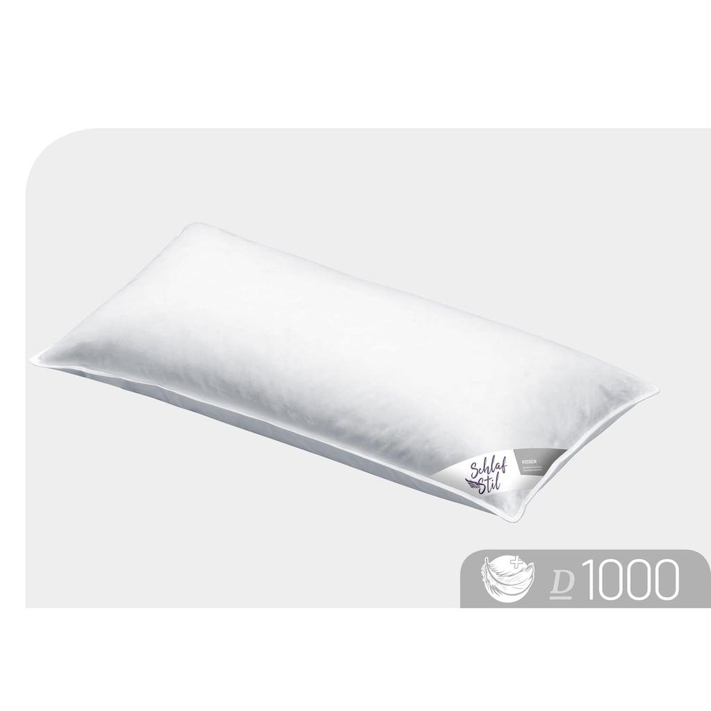 Schlafstil Daunenkissen »D1000«, Füllung: 100% Gänsedaunen, (1 St.), hergestellt in Deutschland, allergikerfreundlich