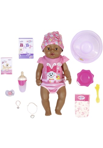 Baby Born Babypuppe »Magic Girl Brown Eyes, 43 cm«, (Set, 13 tlg.), mit 10 lebensechten Funktionen kaufen