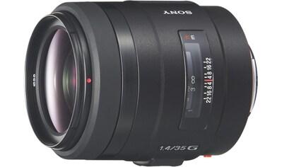 Sony Objektiv »Vollformat - Objektiv 35 mm Festbrennweite F1.4 G« kaufen