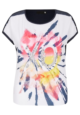Thomas Rabe Shirt mit Front - Print und Pailletten kaufen