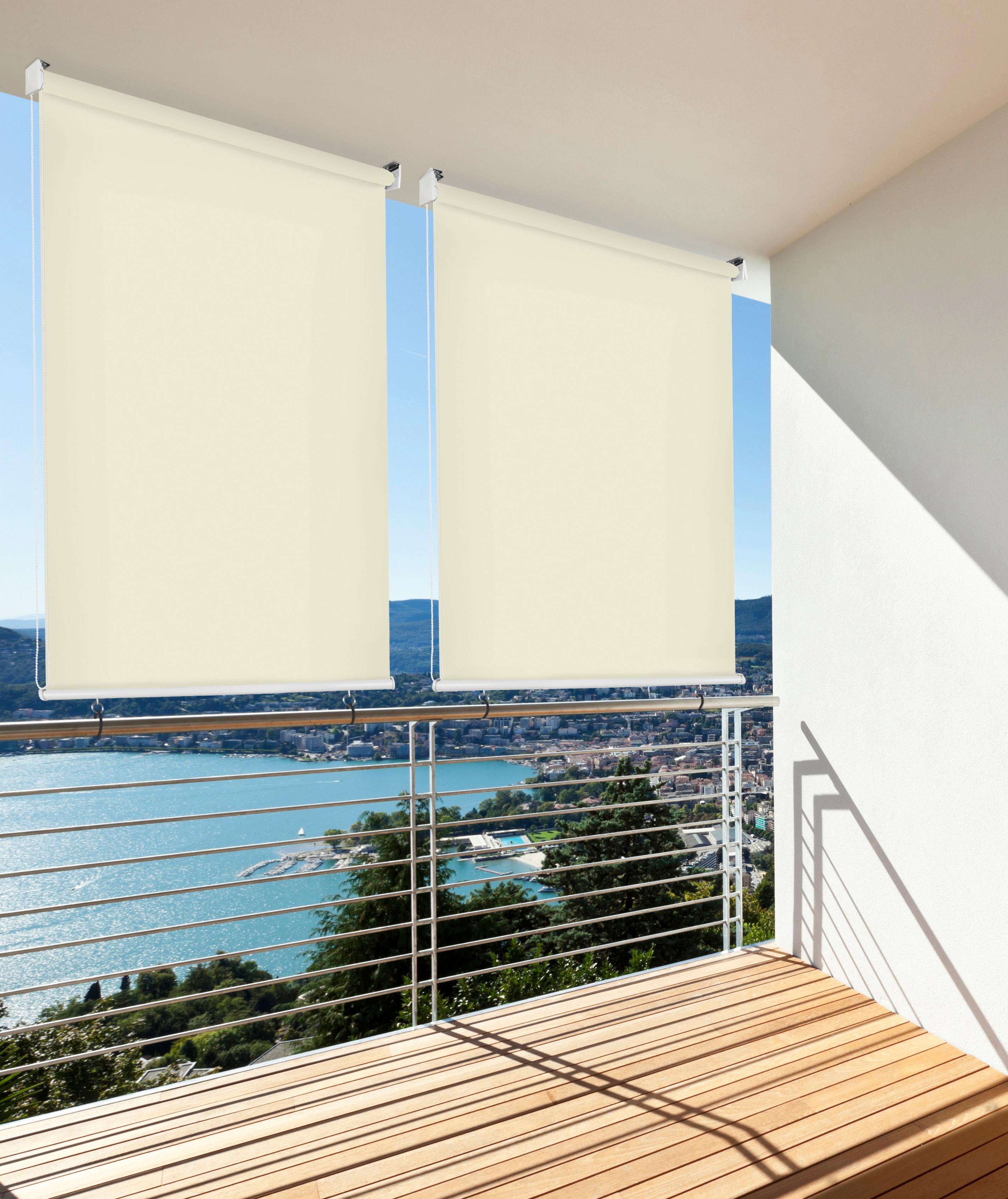 bildquelle hecht balkonsichtschutz rollo beige lxb 230x140 cm