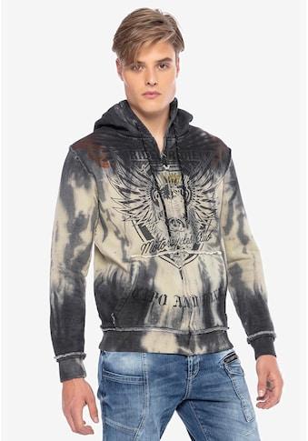 Cipo & Baxx Sweatjacke, mit stylischem Printdesign kaufen