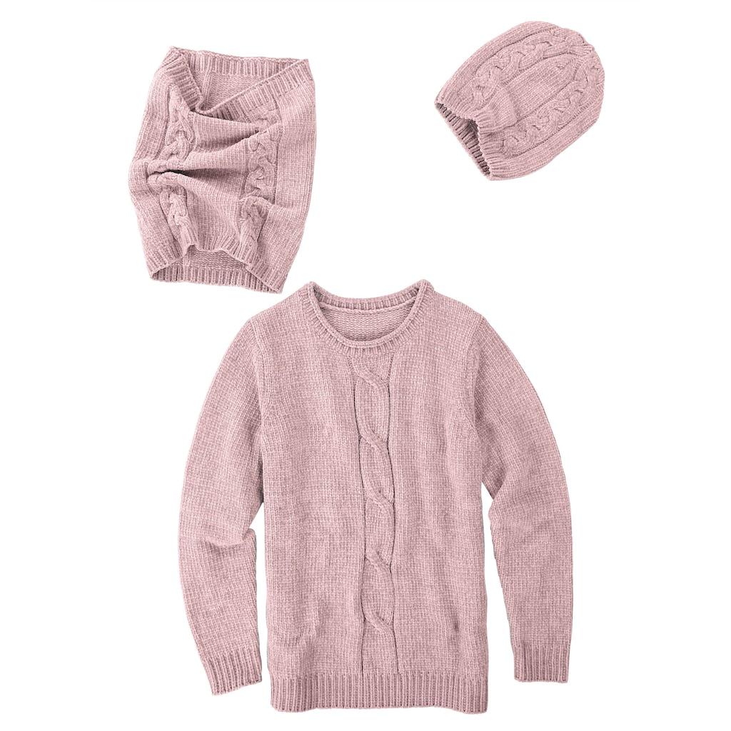 Dress In 3tlg. Set bestehend aus Pullover, Mütze und Loop