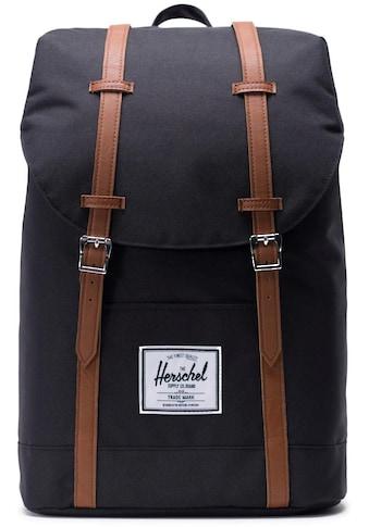 Herschel Laptoprucksack »Retreat, Black/Tan« kaufen