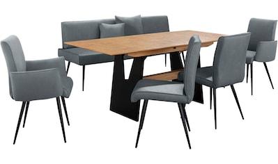 K+W Komfort & Wohnen Essgruppe »Giacomo I«, (6 tlg.), Polsterbank, 2 Stühle und 2... kaufen