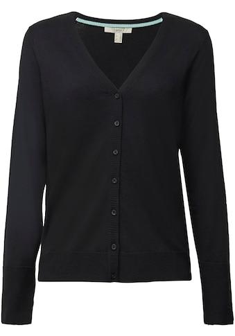 Esprit Cardigan, im Basic-Look mit V-Ausschnitt und Knopfleiste kaufen