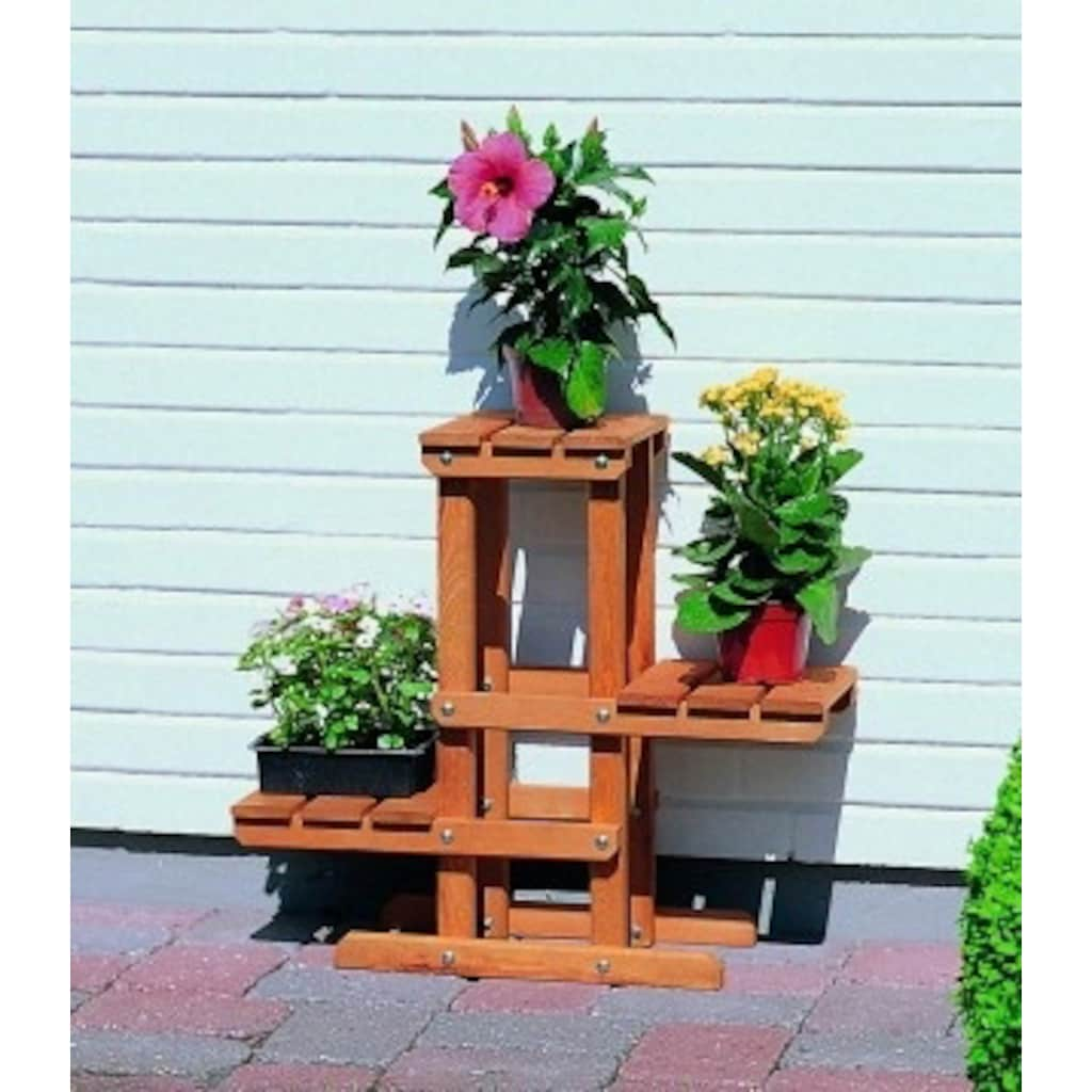 promadino Blumenständer »Blummentreppe«, BxTxH: 60x24x56 cm