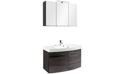 HELD MÖBEL Badmöbel-Set »Florida«, (2 St.), Waschplatz Breite 100 cm und Spiegelschrank kaufen