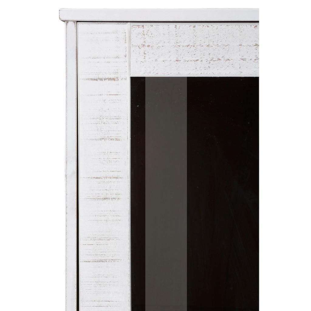 Home affaire Vitrine »Freya«, aus schönem massivem Kiefernholz, mit quadratischen Rohrbeinen, Breite 91 cm