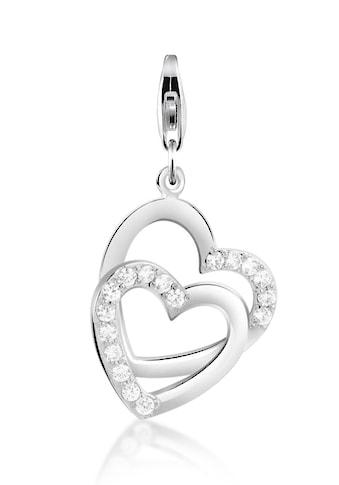 Nenalina Charm-Einhänger »Herz Anhänger Zirkonia Kristalle 925 Silber« kaufen