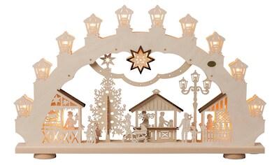 SAICO Original 3D - Lichterbogen Weihnachtsmarkt, 15flammig elektrisch beleuchtet kaufen
