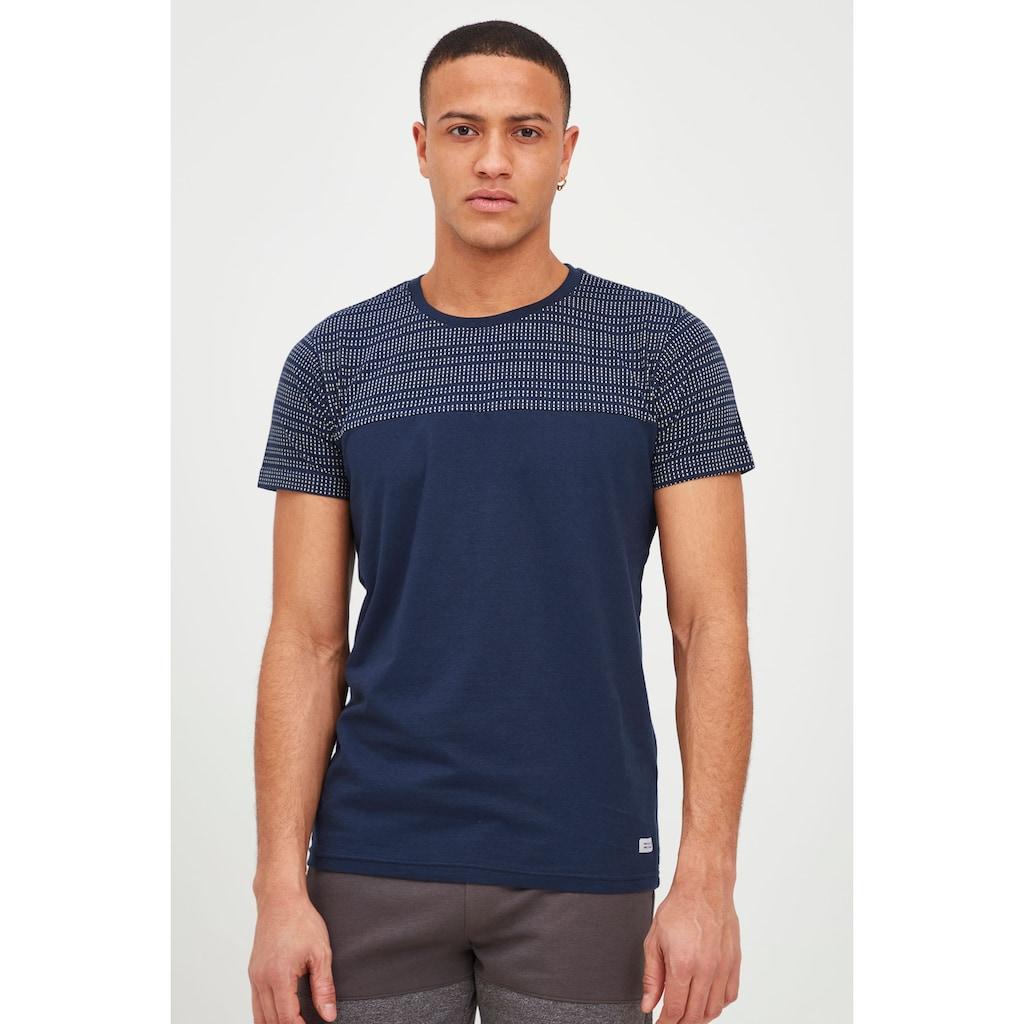 Indicode T-Shirt »Rosto«, T-Shirt im Colorblock-Look