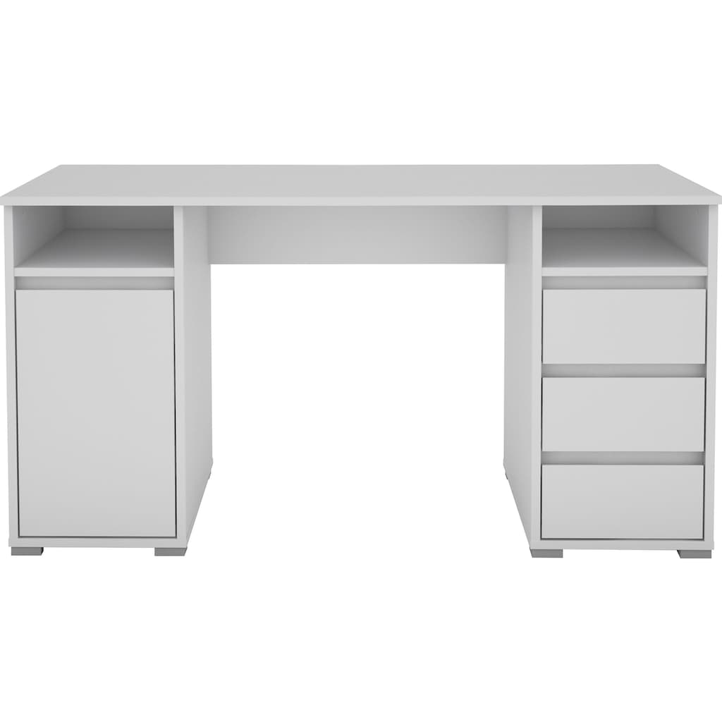 Homexperts Schreibtisch »Loop«, mit 3 Schubkästen und 1 Tür