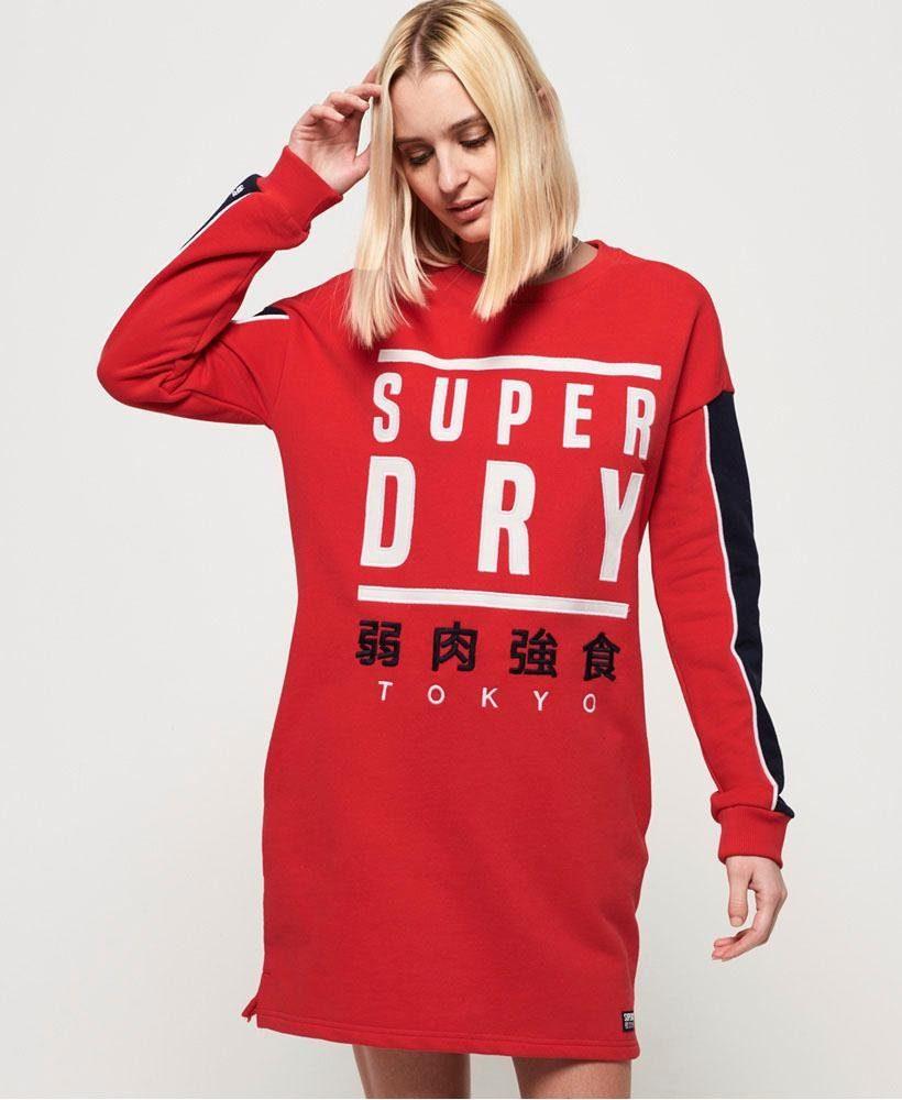 Superdry Sweatkleid PANEL GRAPHIC SWEAT DRESS