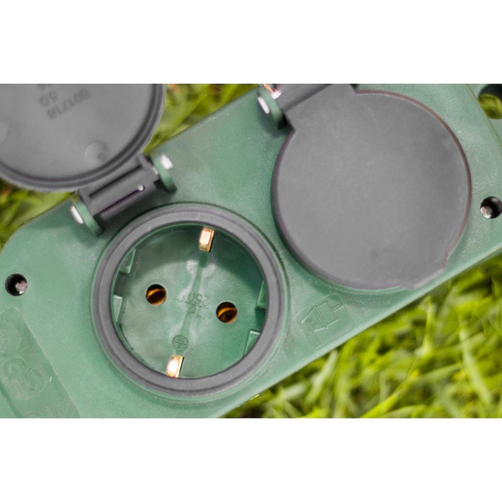 meister Steckdosenleiste, 4-fach, (Klappendeckel Kindersicherung Kabellänge 2 m), spritzwassergeschützt