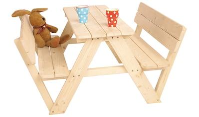 Pinolino® Kindersitzgruppe »Nicki«, Picknicktisch, BxHxT: 105x90x51 cm kaufen