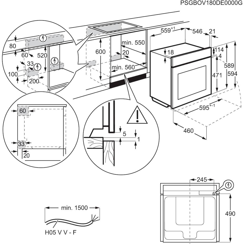 AEG Pyrolyse Backofen »BPB435020M«, BPB435020M, Pyrolyse-Selbstreinigung, mit Grillfunktion
