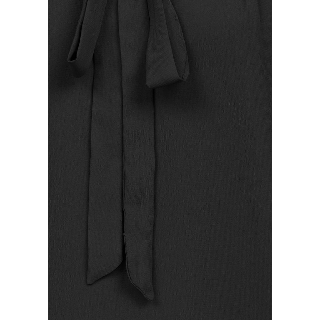 Aniston SELECTED Blusenshirt, mit gedoppeltem Vorderteil und Schluppe