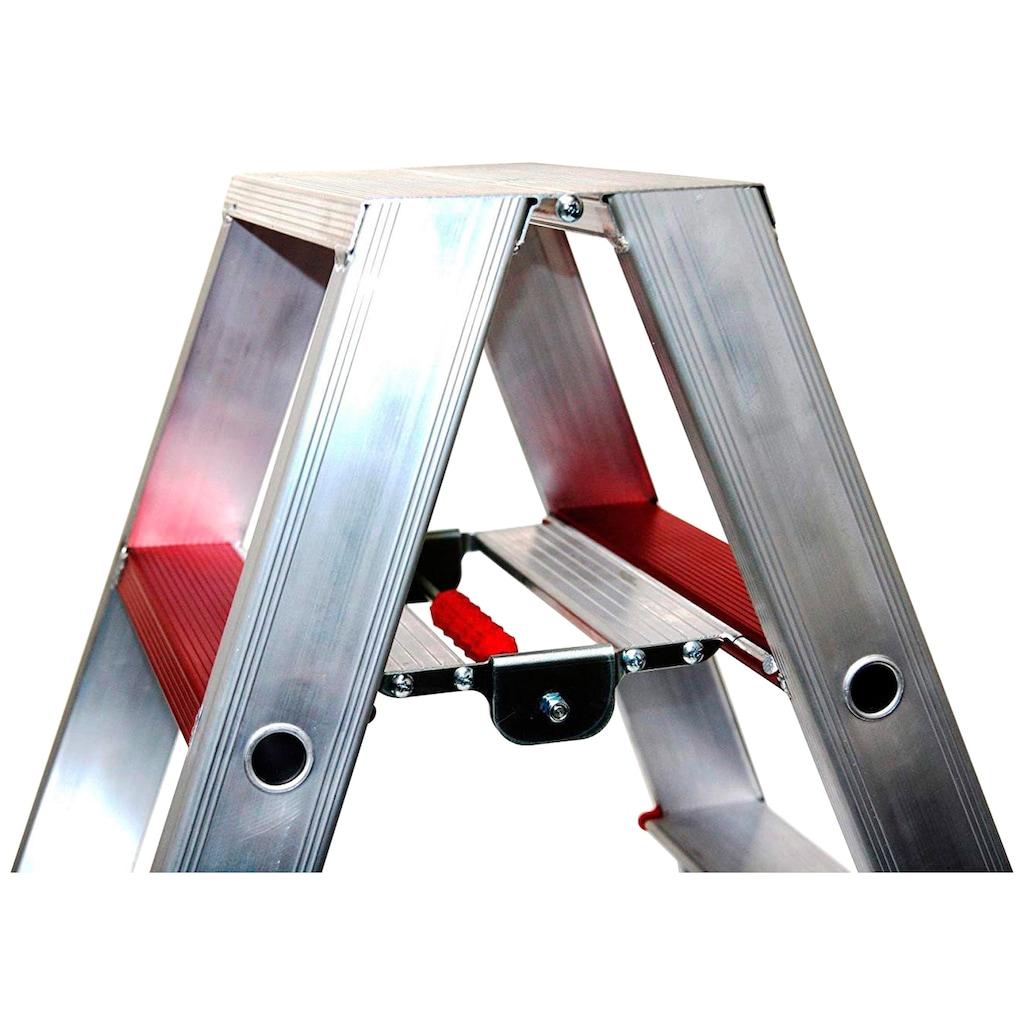 SZ METALL Doppelleiter, Aluminium, 3,75 m, 7-stufig