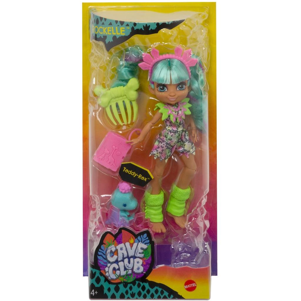 Mattel® Anziehpuppe »Cave Club, Rockelle«, prähistorische Modepuppe mit Haus-Dinosaurier