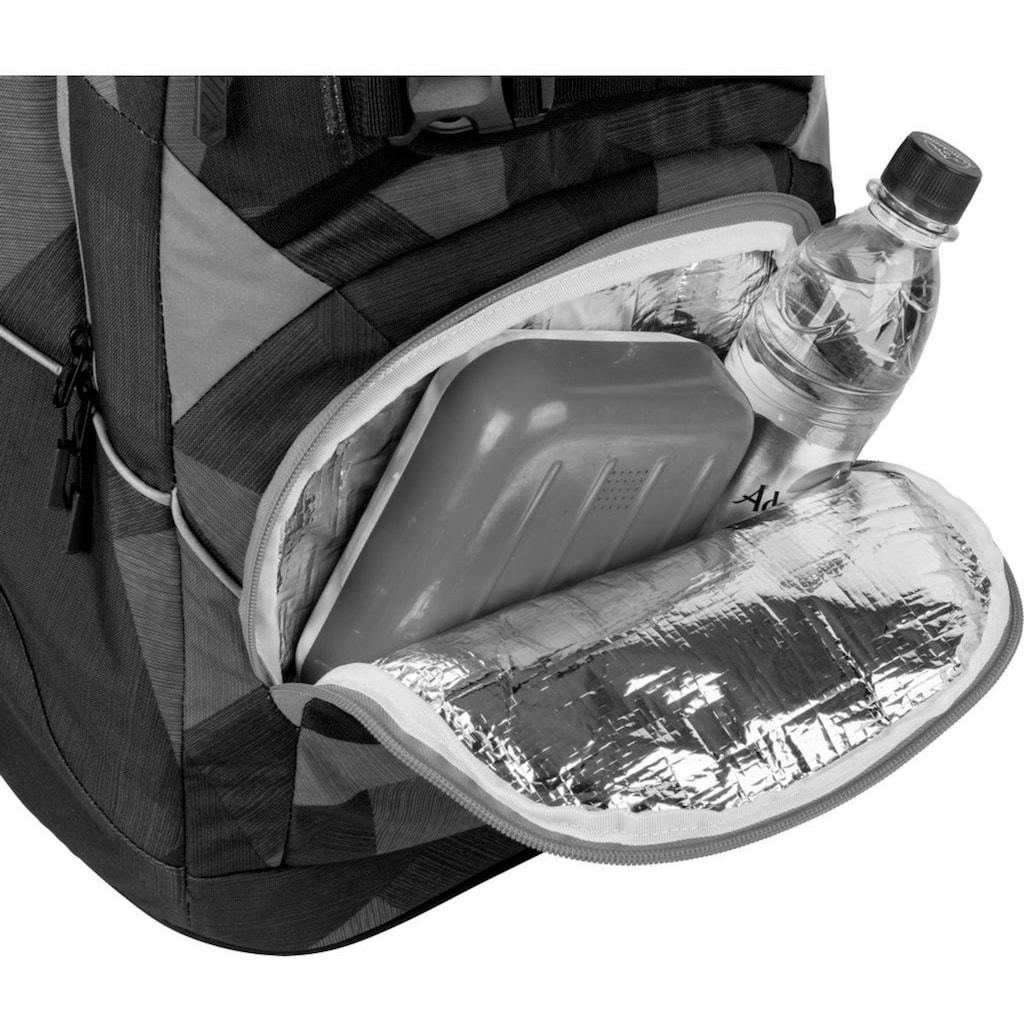 NITRO Schulrucksack »Superhero, Zebra Ice«, Reflektoren