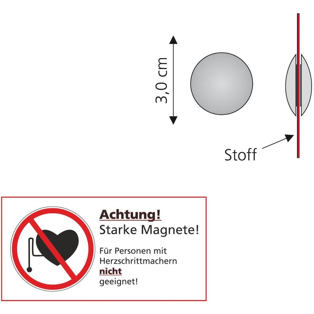 Liedeco Dekomagnet, (Packung, 2 St.), für metallische Flächen