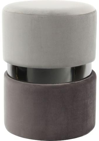 Kayoom Sitzhocker »Gipsy 825«, Runder Sitzpouf mit Metallelement kaufen