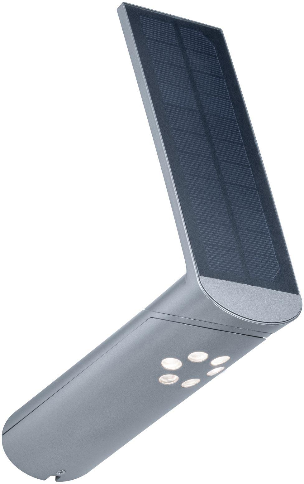 Paulmann LED Außen-Wandleuchte Ilias, LED-Board, 1 St., Warmweiß, Solar, mit Bewegungsmelder