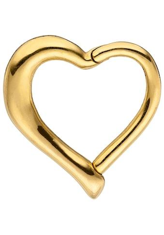 JOBO Nasenpiercing, Segmentring Herz Edelstahl goldfarben kaufen