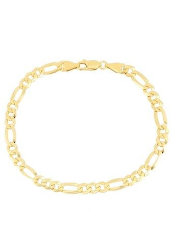 Firetti Armband »in Figarokettengliederung, 5,3 mm, glänzend, vergoldet, klassisch, zeitlos, 6-fach diamantiert« kaufen