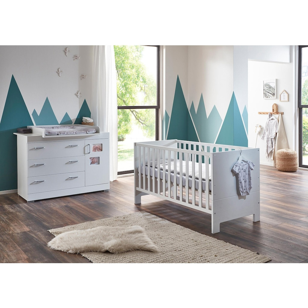 arthur berndt Babymöbel-Set »Marisa«, (Spar-Set, 2 St.), mit Kinderbett und Wickelkommode; Made in Germany