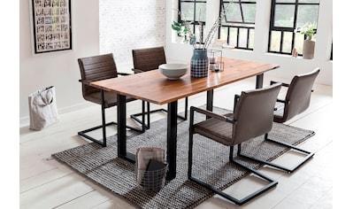 SalesFever Essgruppe, (Set, 5 tlg.), bestehend aus 4 Armlehnstühlen und einem 180 cm breitem Tisch kaufen