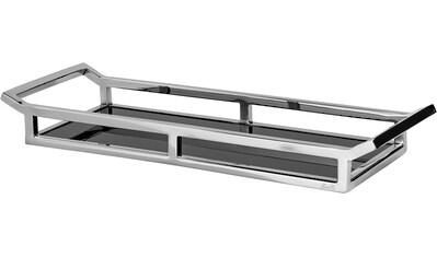 Fink Dekotablett »PIANO, silberfarben/schwarz, rechteckig«, Tablett, aus Edelstahl,... kaufen